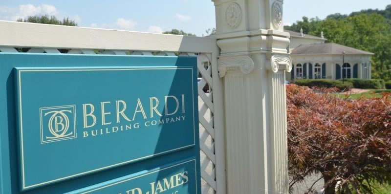 Berardi Building Company Sign Outside of Office